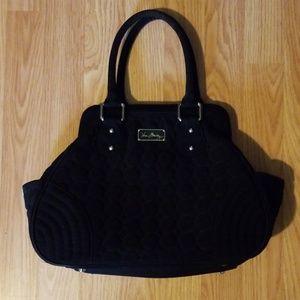 Vera Bradley black cotton quilt purse